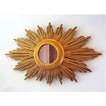vintage 1930s carved wood gilded sunburst mirror