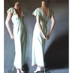 vintage 1930s new old stock rayon crepe nightgown