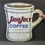 vintage 1950s tin coffee advertising sign