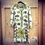 vintage 1960s hermes silk dress