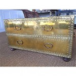 vintage 1960s sarried brass coffee table