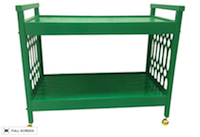 vintage lacquered bar cart