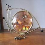 vintage midcentury space age table lamp