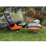 vintage midcentury unlabeled heywood wakefield swivel rocking chair and ottoman