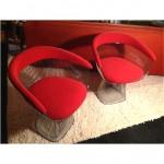 vintage pair of original warren platner armchairs