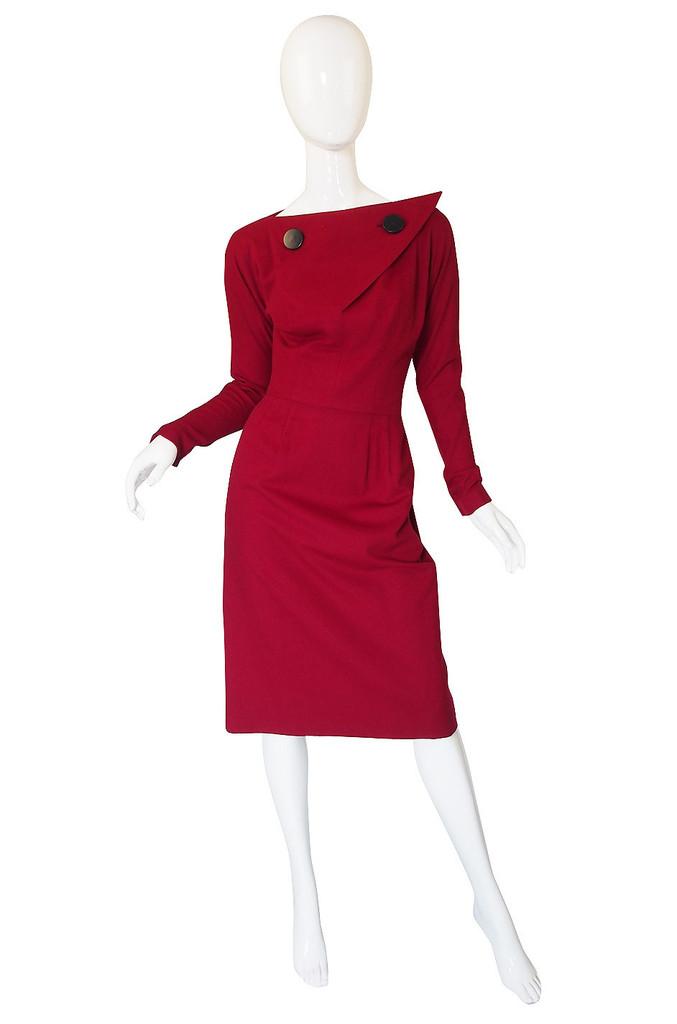 vintage 1950s suzy perette wool dress