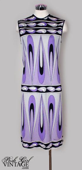 vintage 1960s paganne dress