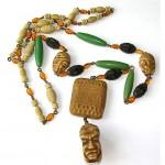 vintage art deco bakelite pendant necklace