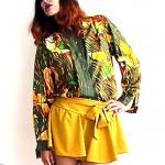vinage hermes vintage silk print blouse z