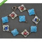 vintage 1950s david andersen sterling enamel bracelet