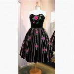 vintage 1950s july lynne charlot two piece velvet party dress