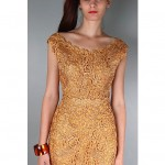 vintage 1950s macrame crochet dress z