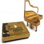 vintage 1950s pygmalion sonata grand piano powder compact=
