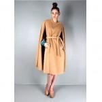 vintage 1960s camel wool cape z