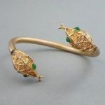 vintage 1968 henkel and grosse snake bangle bracelet