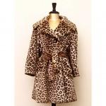 vintage 1970s faux leopard coat