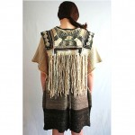 vintage 1970s fringe embroidered poncho sweater z