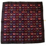 vintage 1970s gucci silk butterfly print scarf