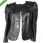 vintage 1980s embellished lambskin leather jacket z