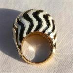 vintage david webb 18k vogue cover enamel dome ring