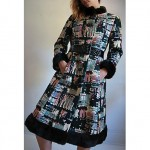 vintage golet tapestry mink trim coat z