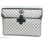 vintage gucci document pouch handbag