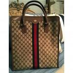 vintage gucci shopper tote bag
