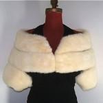 vintage ivory mink shrug stole z