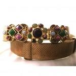 vintage judith leiber semi precious jeweled snakeskin belt