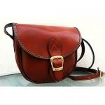 vintage leather saddle bag purse