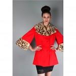 vintage lilli ann cape jacket leopard dyed rabbit fur trim cape jacket z