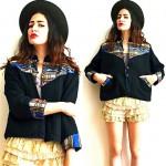 vintage linen southwestern blazer z