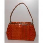vintage mar-shel snakeskin handbag