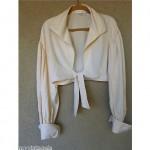 vintage norma kamali silk blouse