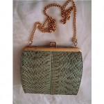 vintage python snakeskin handbag z