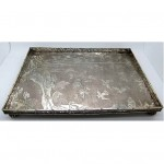 antique 1880s wang hing solid silver engraved tray