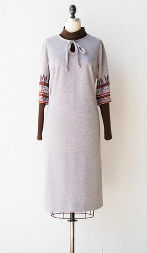 vintage 1970s nordic sweater dress