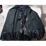 antique 1800s victorian wool beaded and lace mourning cape