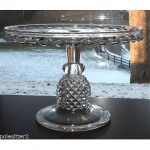 antique 1885 ripley and co glass cake stand