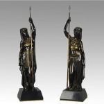 antique 1890 pair eutrope bouret bronze figures