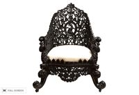 antique 19th century anglo-indian handcarved chair