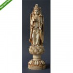 antique chinese carved faux bone buddha figure