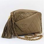 vinage chanel lambskin leather shoulder bag