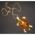 vintage kenneth jay lane turtle necklace