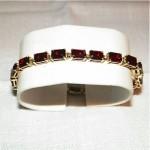 vintage 14k garnet tennis bracelet