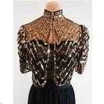 vintage 1930s sheer sequin bolero jacket