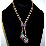vintage 1940s trifari lariat necklace