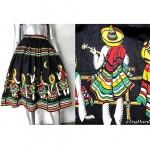 vintage 1950s mexican fiesta skirt