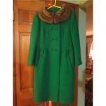 vintage 1950s mink collar wool coat