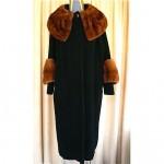 vintage 1950s mink forstmann cashmere mink trim coat